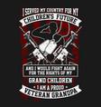 t-shirt veteran - i serve my country vector image vector image