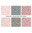 terrazzo seamless patterns vector image