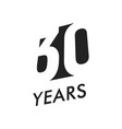 thirty years emblem template anniversary vector image vector image