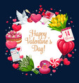 valentines day greeting hearts banner vector image vector image