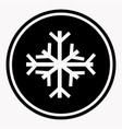 warning and danger sign of snow attention symbol vector image vector image