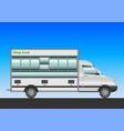 white van shoptruck vector image