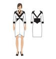 womens dress vector image vector image
