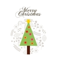merry christmas tree holiday december vector image
