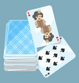 deck of cards with two items on vector image