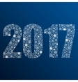 2017 snowflakes Number symbol year 2017 vector image
