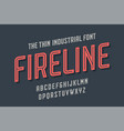 alphabet and font fire line vector image