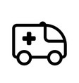 ambulance icon isolated sign symbol - high vector image
