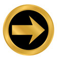 arrow sign button vector image