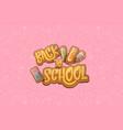 back to school horizntal background vector image