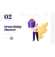 bashower event tiny male character holding vector image vector image