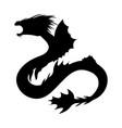 basilisk silhouette ancient mythology fantasy vector image