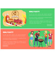 bbq party collection of web vector image vector image
