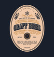 beer label design antique frame vintage border vector image