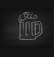 beer mug on a chalkboard vector image
