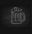 beer mug on a chalkboard vector image vector image