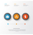 Business icons set collection of hierarchy group vector image