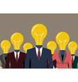 Business people with a light bulb head vector image vector image