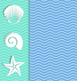Card with sea icons vector image vector image
