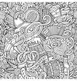 Cartoon cute doodles hand drawn Octoberfest vector image vector image