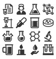chemical icons set on white background vector image