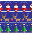 Christmas geometric pattern with reindeer vector image vector image