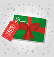 christmas gift card 50 off discount commercial vector image