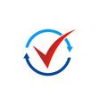 circle arrow round check list logo vector image