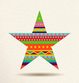 Colorful star design in fun geometric shape style vector image