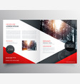 creative red and black bifold brochure or vector image vector image