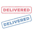 delivered textile stamps vector image vector image