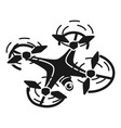 drone top view icon simple style vector image