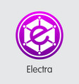 electra cryptographic currency coin symbol vector image vector image