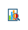 find stock market business logo icon design vector image