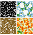 Floral seamless set vector | Price: 1 Credit (USD $1)