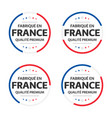 four french icons french title made in france vector image vector image