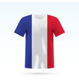 france flag t-shirt vector image
