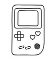 game boy icon black and white vector image vector image