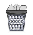 grated office paper trash recycle document vector image