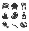 Grill and Barbecue Icons Set vector image