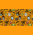 halloween party colorful seamless background vector image vector image