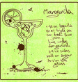 Hand drawn Margarita cocktail vector image vector image