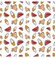 Hands Ice Cream and Watermelon Seamless Pattern vector image