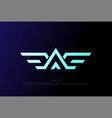 initial letter a eagle hawk falcon phoenix bird vector image vector image