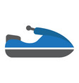 jet ski flat icon transport and vehicle vector image vector image