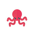 marine life red octopus cartoon sea fauna animal vector image vector image