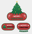 Merry christmas and happy new year badges labels vector image