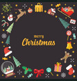 merry christmas decoration elements background vector image