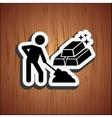 mining industry design vector image vector image