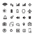 mobile phone notification icons vector image